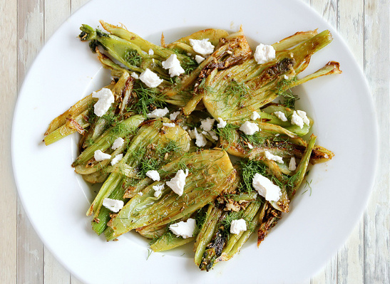 Caramelized Fennel and Goat Cheese