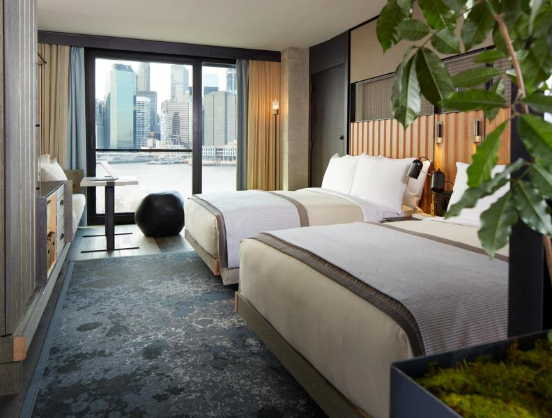A 2 bed guest suite at 1 Hotel Brooklyn Bridge