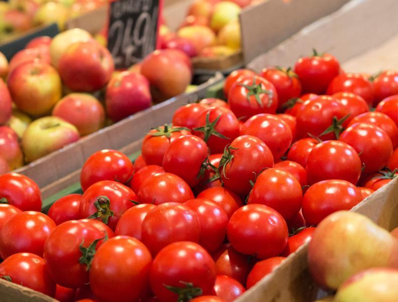 Tomatoes at the farm market