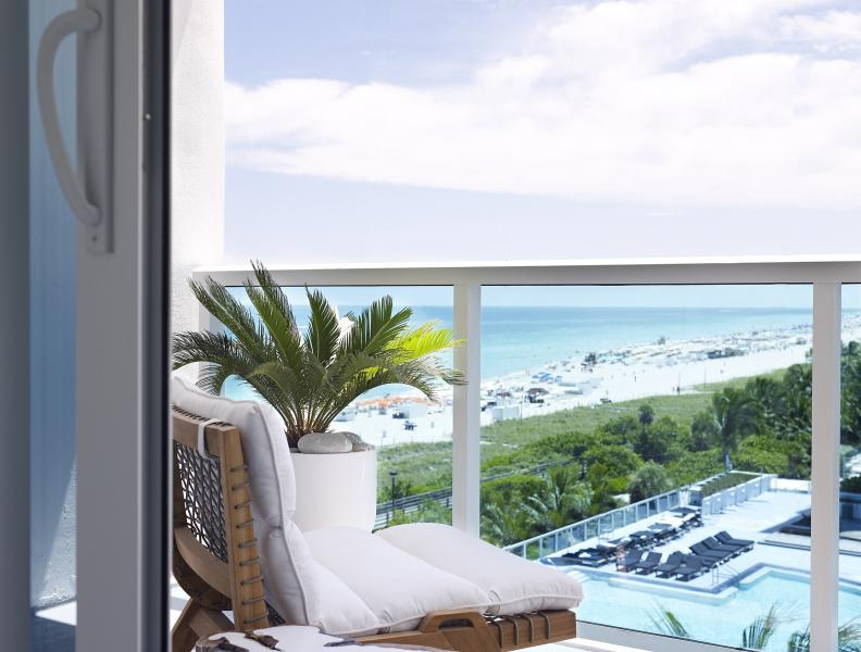 Balcony view from 1 hotel south beach king room