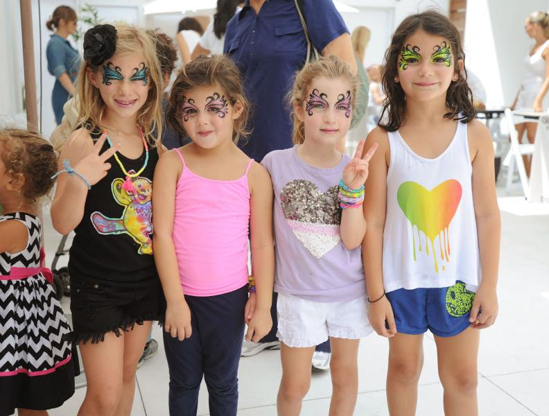 Young girls with facepaint