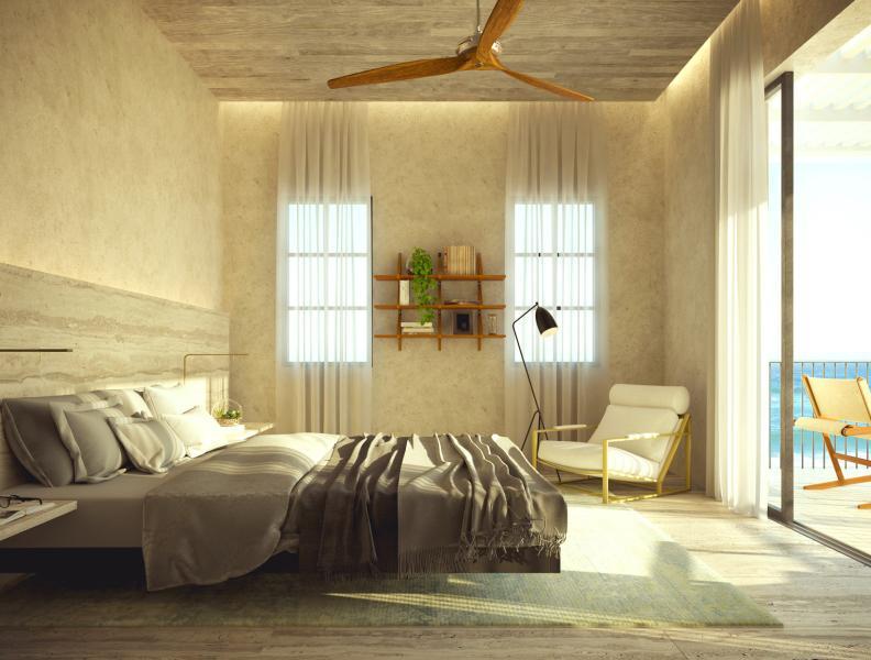 1 Hotel & Homes Cabo Bedroom Rendering