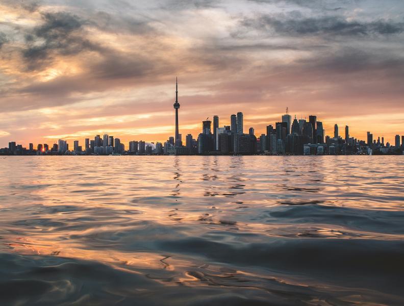 Toronto Skyline Across Lake