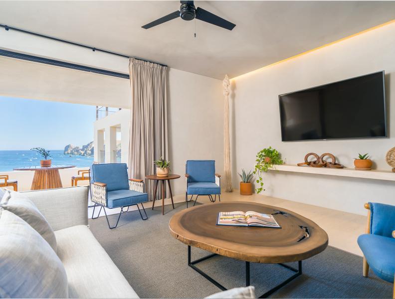 One Bedroom Ocean View Home Living Room