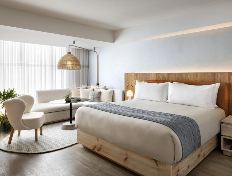 Bedroom at 1 Hotel Toronto