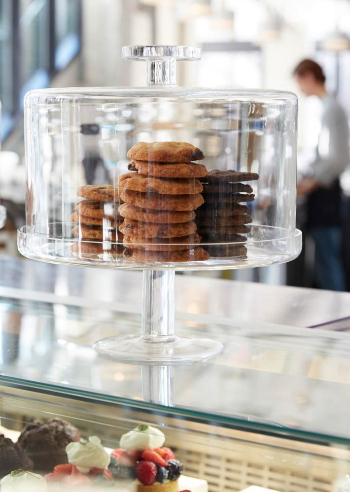 Cookies displayed in glass container