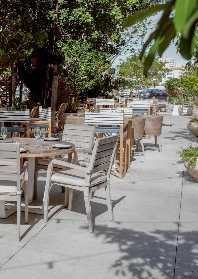 Outdoor dining space for restaurant Habitat