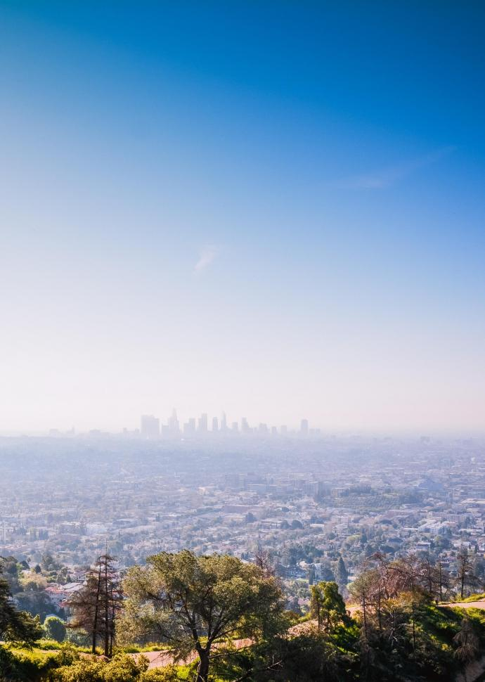 view of hollywood hills