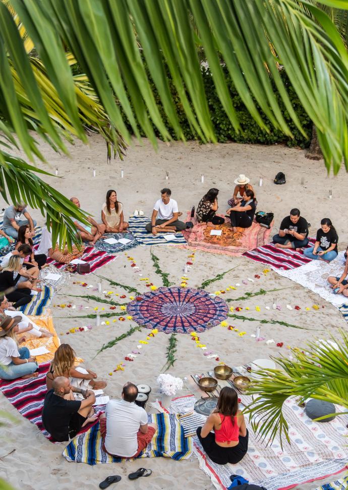 private beach circle