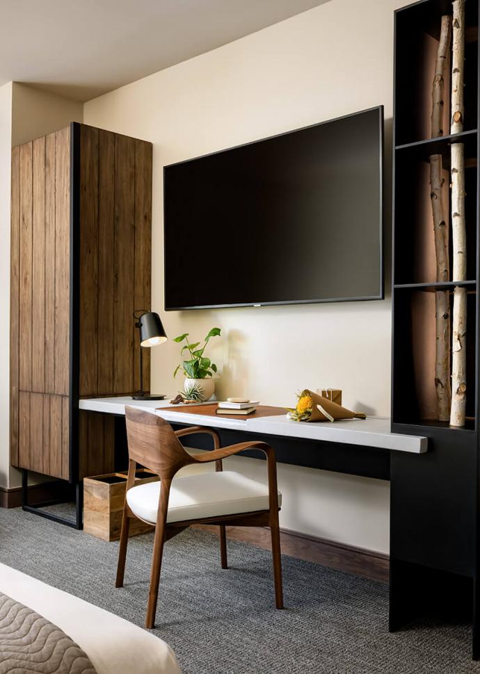 Image of desk and television
