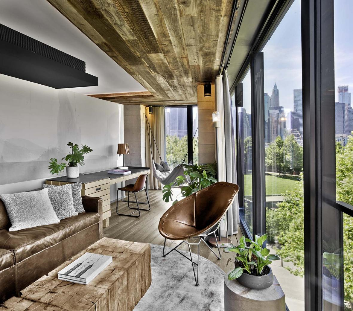 brooklyn bridge suite with view of NYC skyline