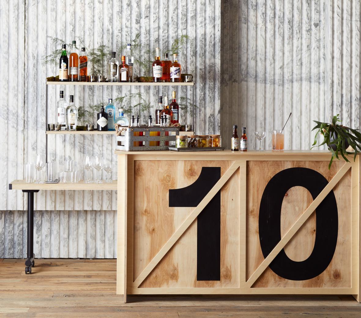 10 bar set up at Meadow Rue bar