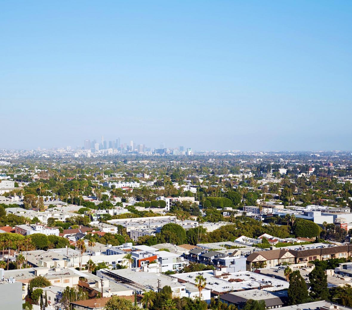 The West Hollywood skyline