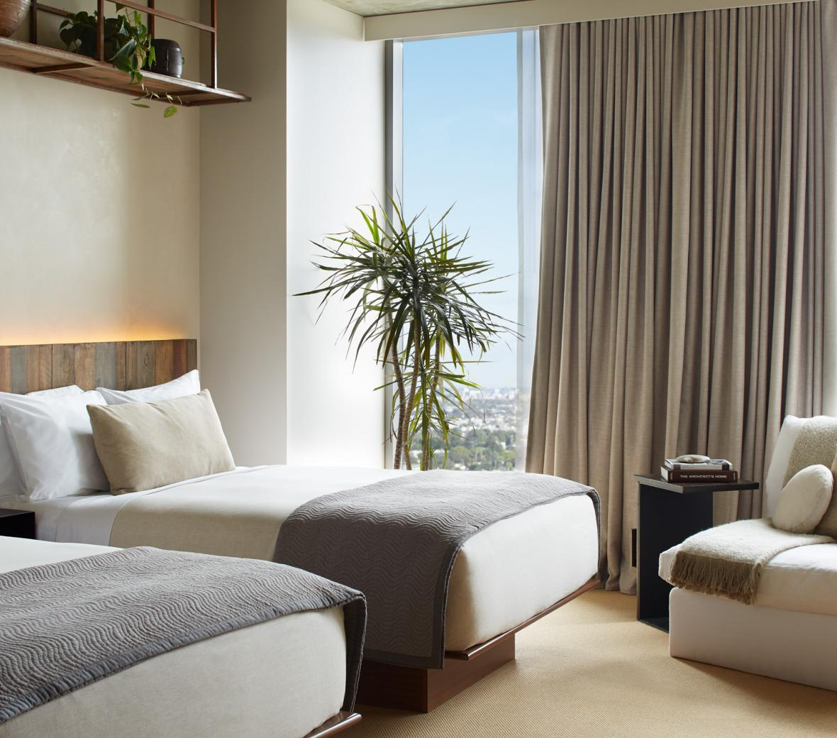 1 Hotel West Hollywood Skyline Two Double Guestroom