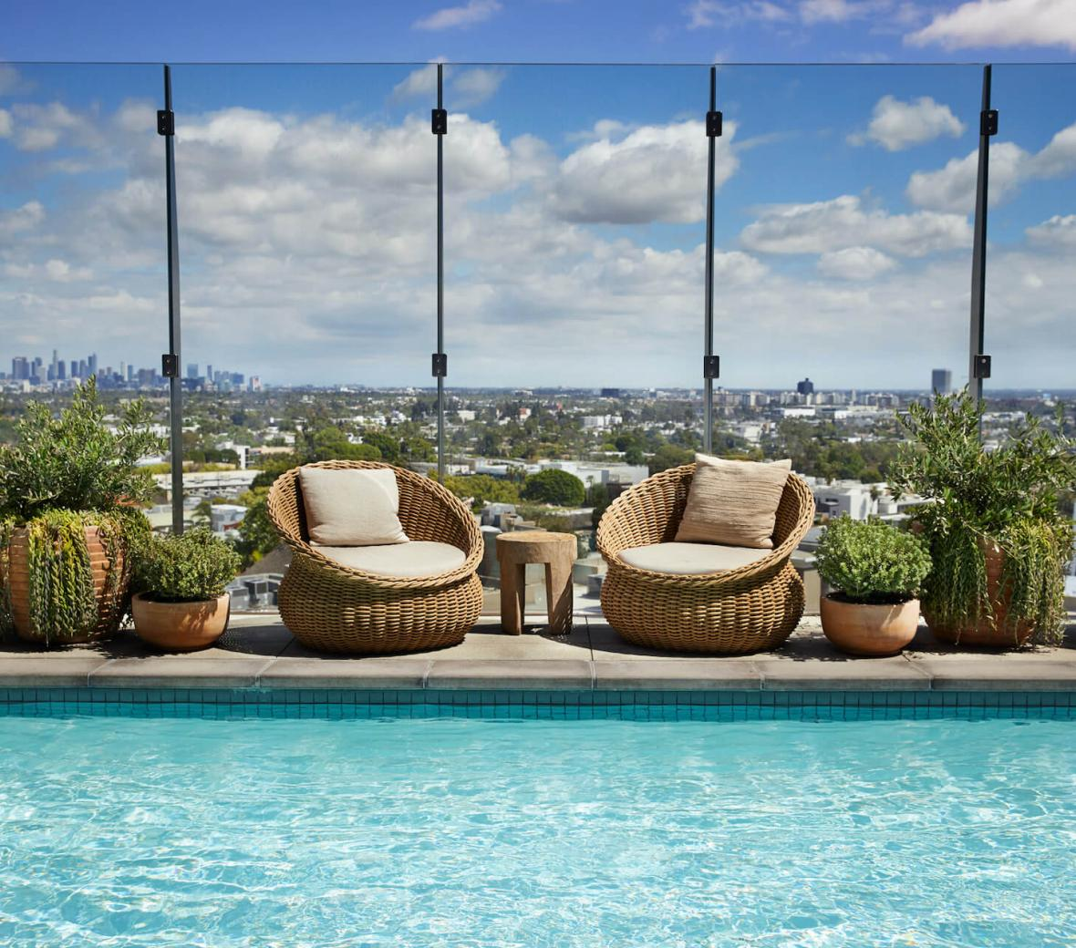 Views of LA from the Rooftop Pool