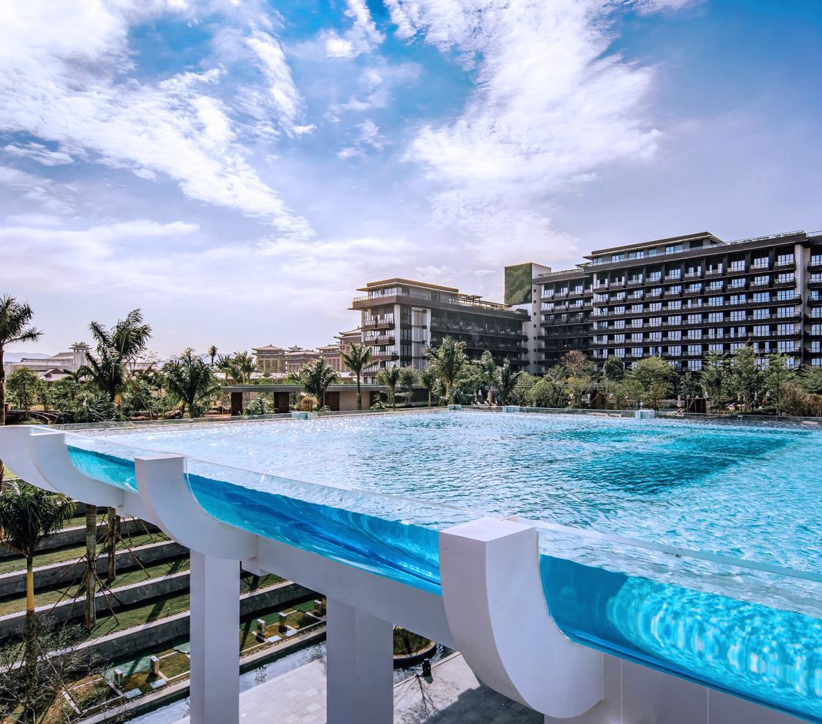 Sky Pool at 1 Hotel Haitang Bay