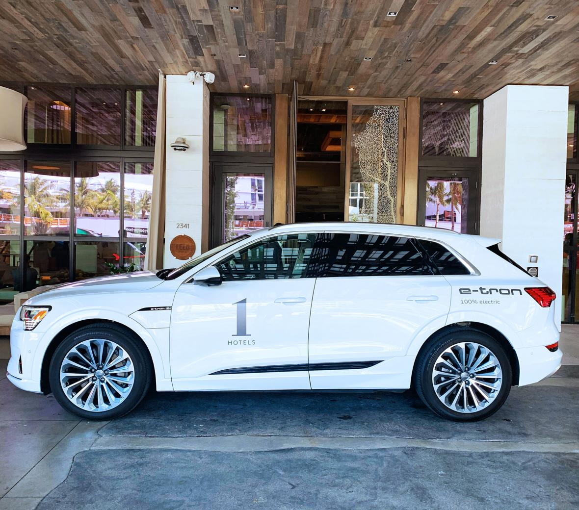 Audi e-tron at 1 Hotel South Beach