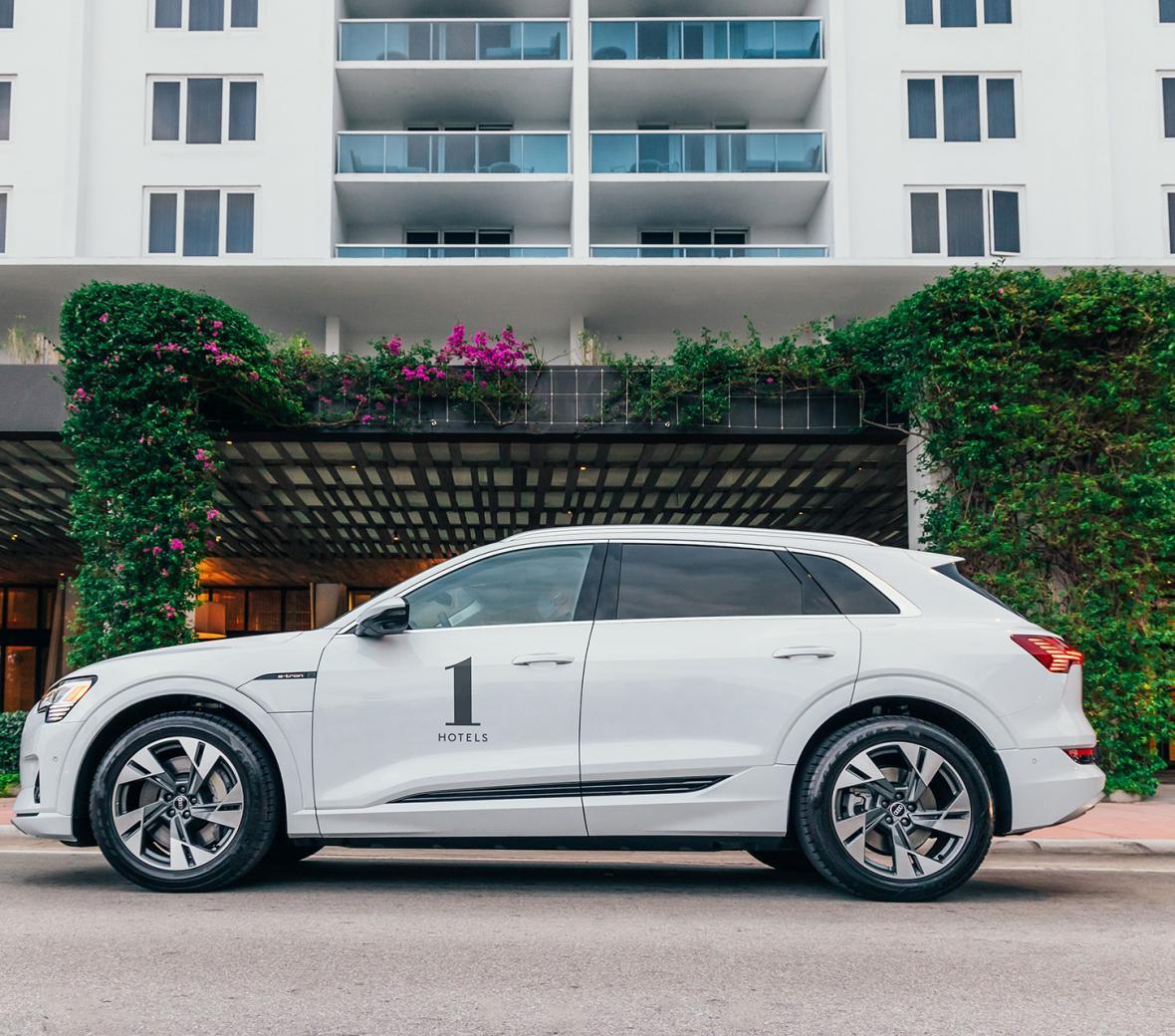 Audi e-tron at 1 Hotel South Beach