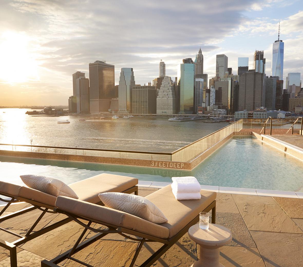 1 Hotel Brooklyn Bridge Rooftop Pool