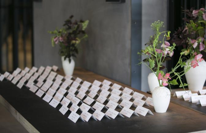 List of table placements at a wedding