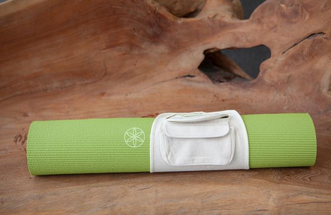 green yoga mat