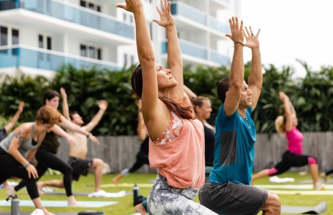 south lawn yoga