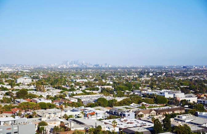 The West Hollywood skyline