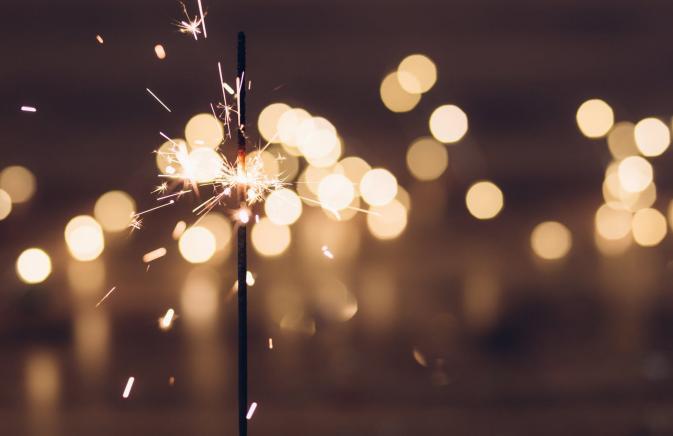 NYE sparkler