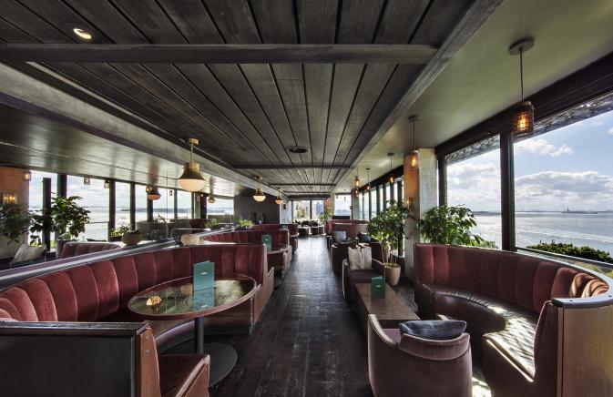 Harriet's Lounge at 1 Hotel Brooklyn Bridge