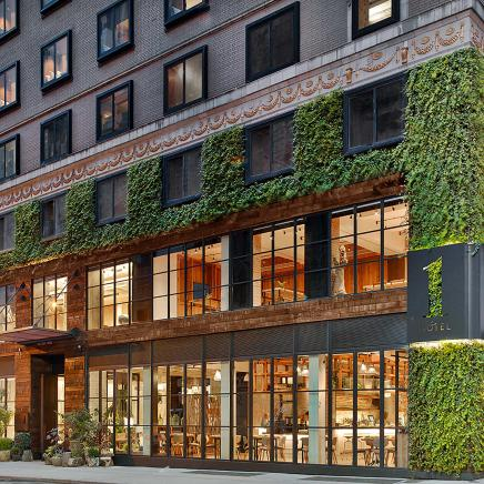 1Hotel Central Park exterior with greenery