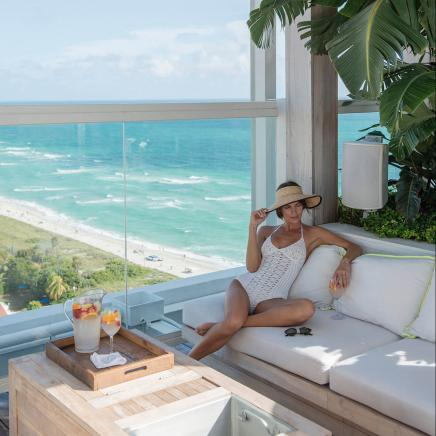 Rooftop Cabana at 1 Hotel South Beach
