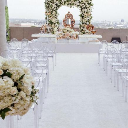 Wedding ceremony on rooftop of 1 West Hollywood