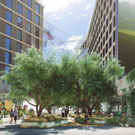 1 Hotel West Hollywood The Canyon Rendering