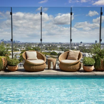 Pool with Views of Los Angeles