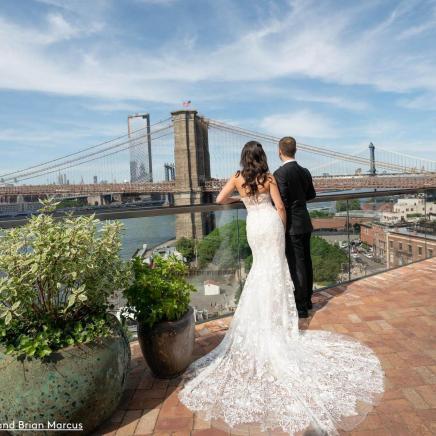 Wedding Bridge Shot bride & groom