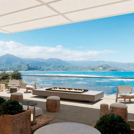 1 Hotel Hanalei Bay Bar Terrace Rendering
