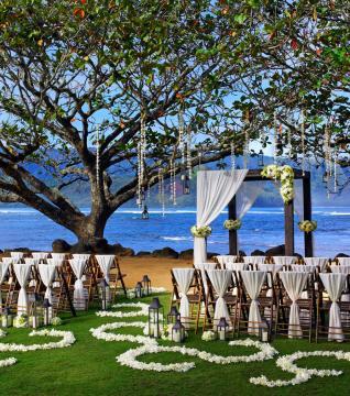Hanalei Bay Kamani Cove Wedding