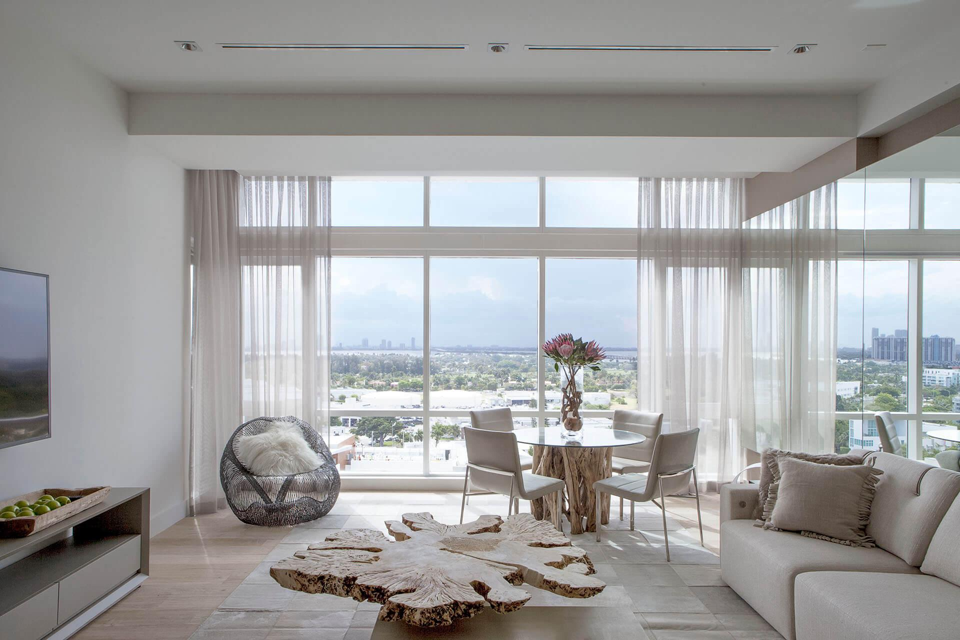Two Bedroom Penthouse Skyline View with Balcony | Living Area