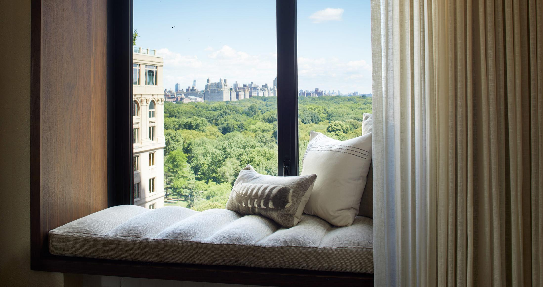 View of central park from room nook