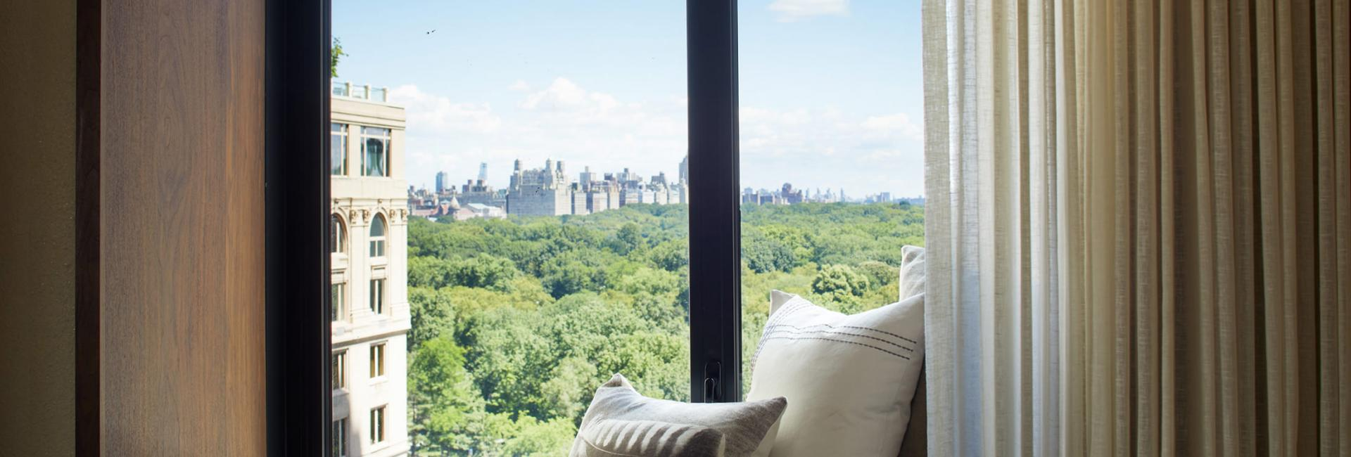 1 Hotel Central Park Guestroom Window Nook with Park View