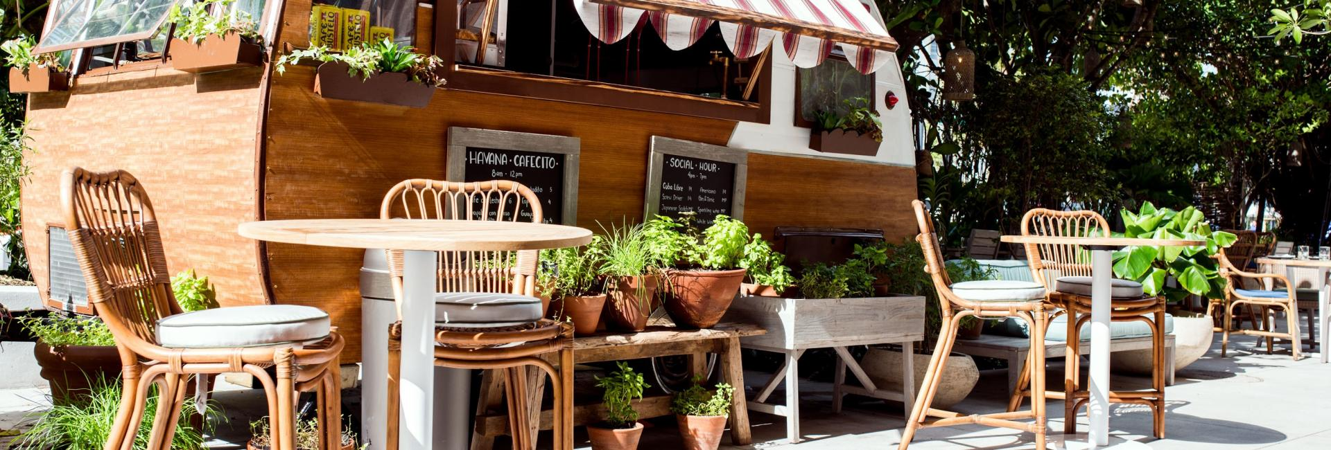 Habitat food truck on a sunny day