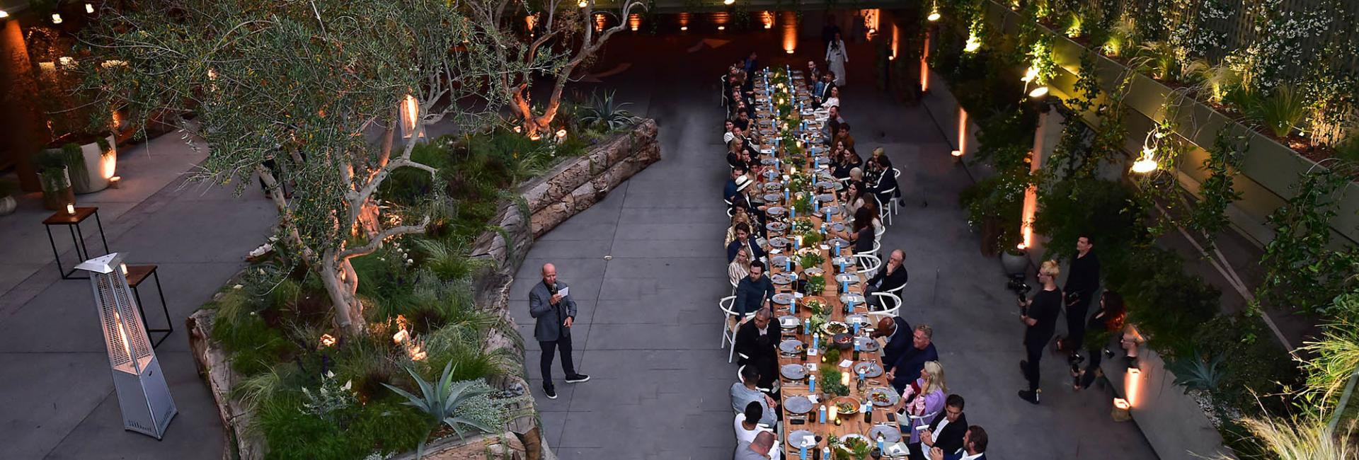 Nighttime Event in the Garden