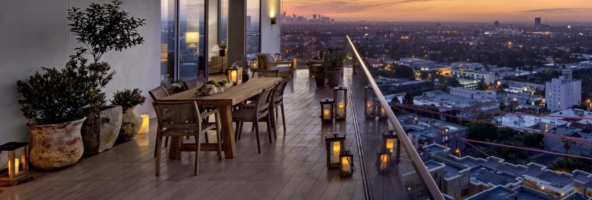 1 Hotel West Hollywood Canyon House Balcony View