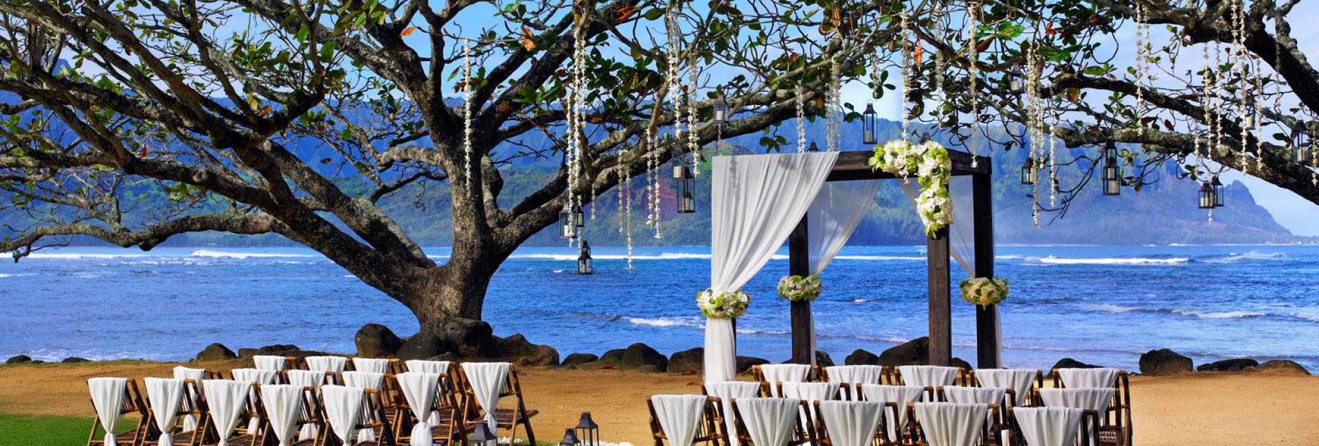 Hanalei Bay Kamani Cove Wedding