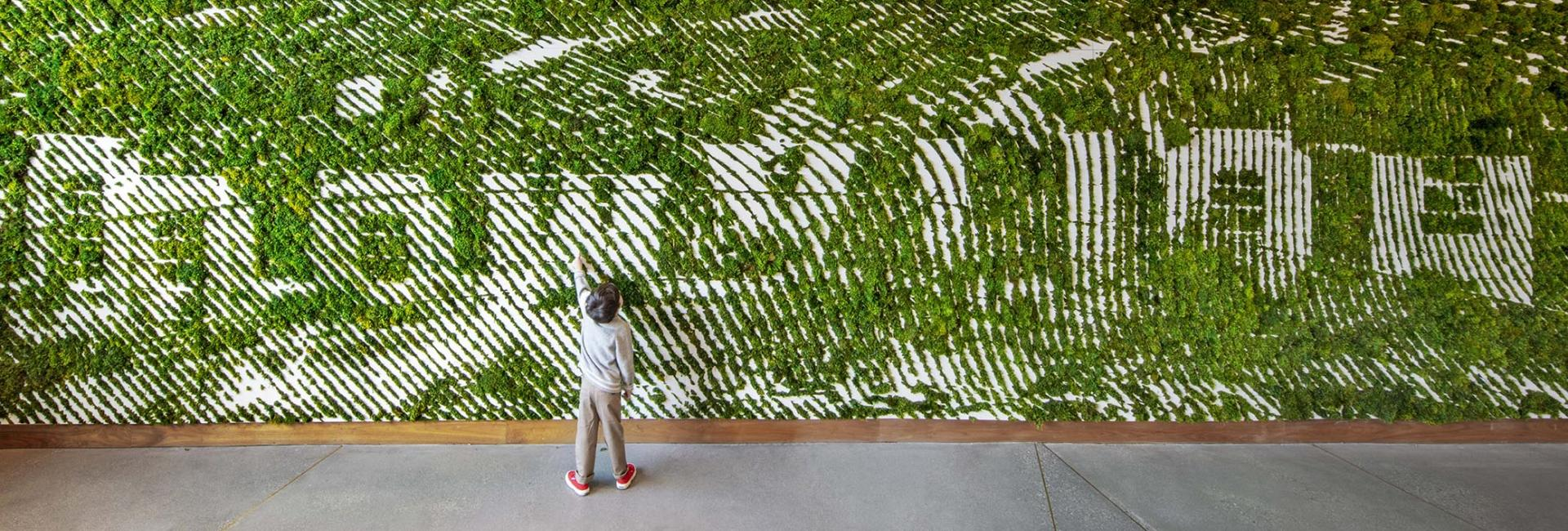 1 Hotel West Hollywood Moss Wall with Boy