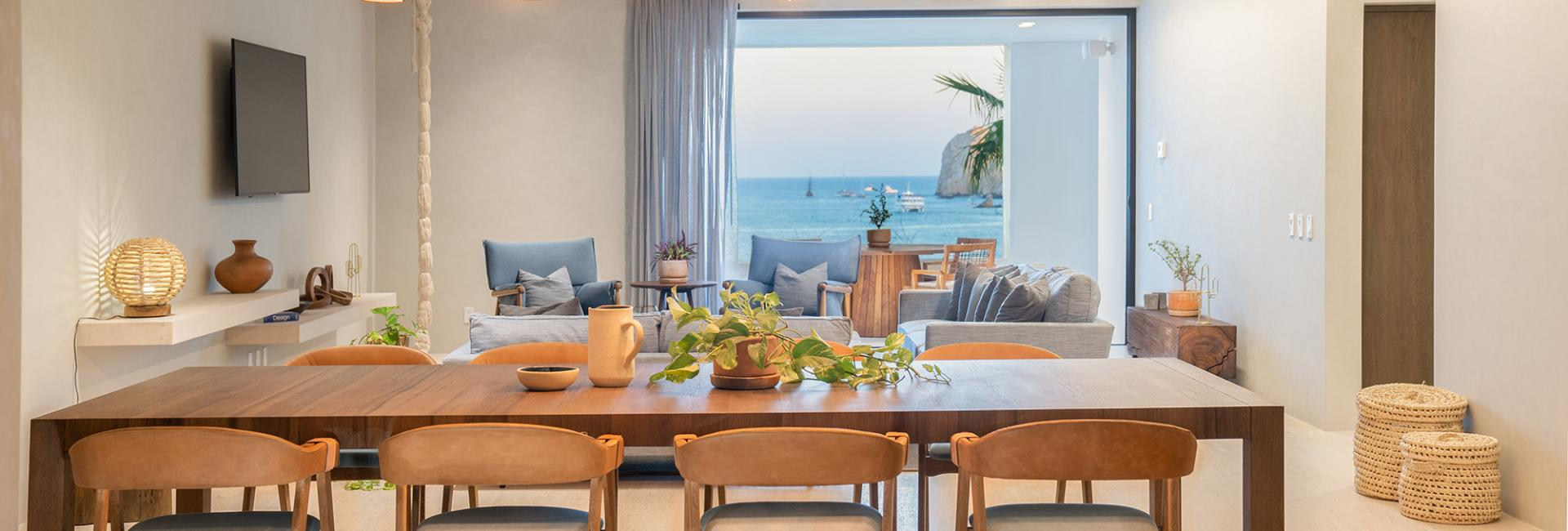 Three Bedroom Ocean View Home Dining Area