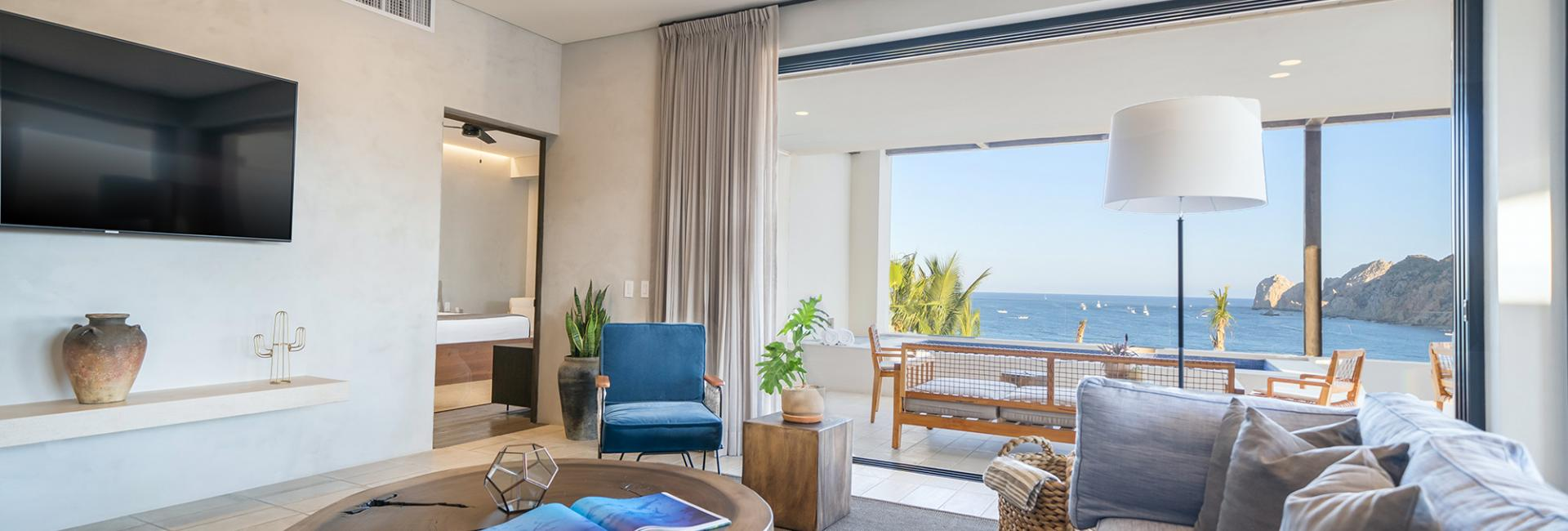 Three Bedroom Plus Den Ocean View Home Living Room