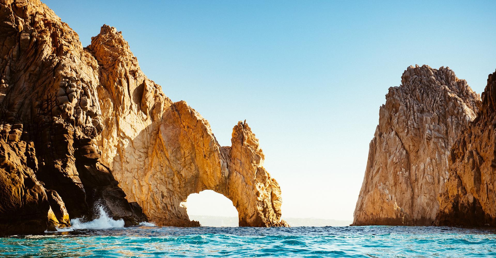 Rocks in ocean in Cabo san Lucas