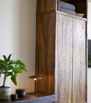 wooden closet and desk