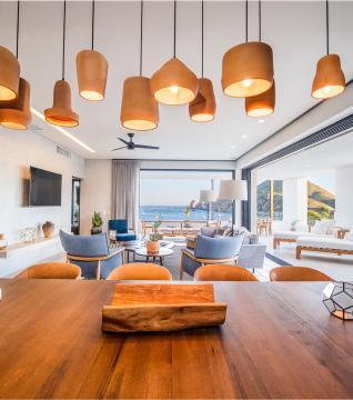 Three Bedroom Plus Den Ocean View Home Living Dining Area